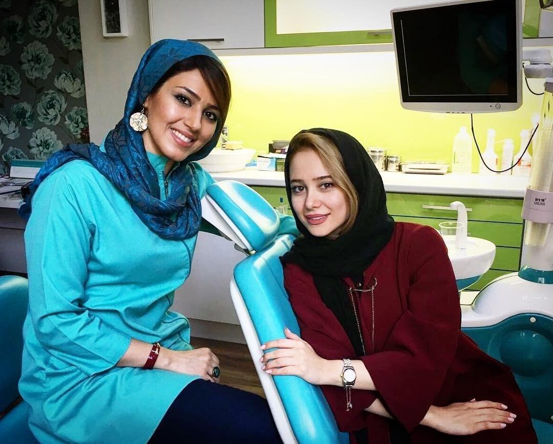 عکس الناز حبیبی در داندان پزشکی ، الناز حبیبی و داندان پزشکش