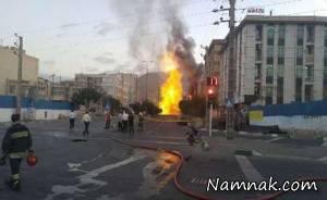 """جزئیات انفجار لوله گاز در فلکه اول """"شهران"""" در غرب تهران + فیلم و عکس"""