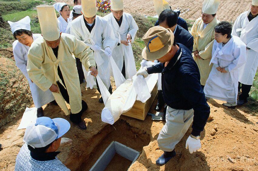آداب و رسوم تدفین مردگان در کره