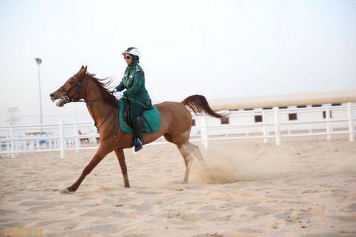 عکس از زنان پلیس اسب سوار امارات متحد عربی