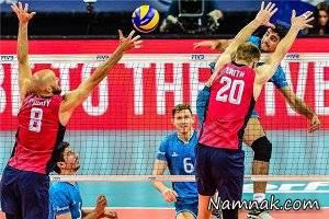نتیجه بازی والیبال ایران و آمریکا لیگ جهانی 2016 + فیلم