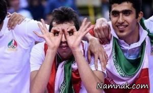 شکار عکسی جالب از بازی والیبال ایران و آمریکا