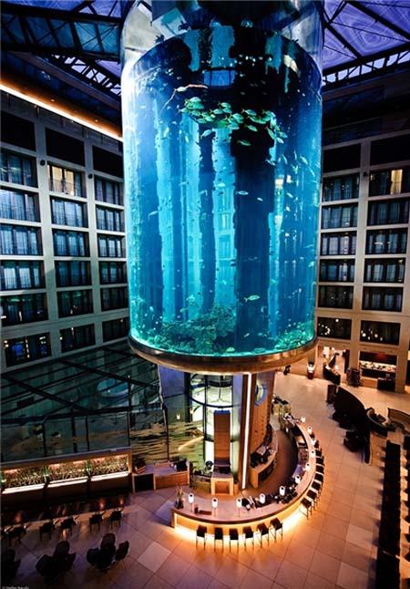 بزرگترین اکورایوم استوانه ای دنیا در پایتخیت کشور آلمان