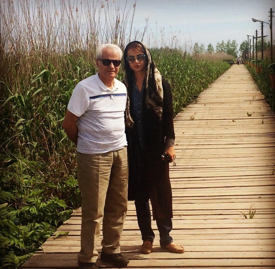 تک عکس جدید شبنم قلی خانی و پدر شوهرش