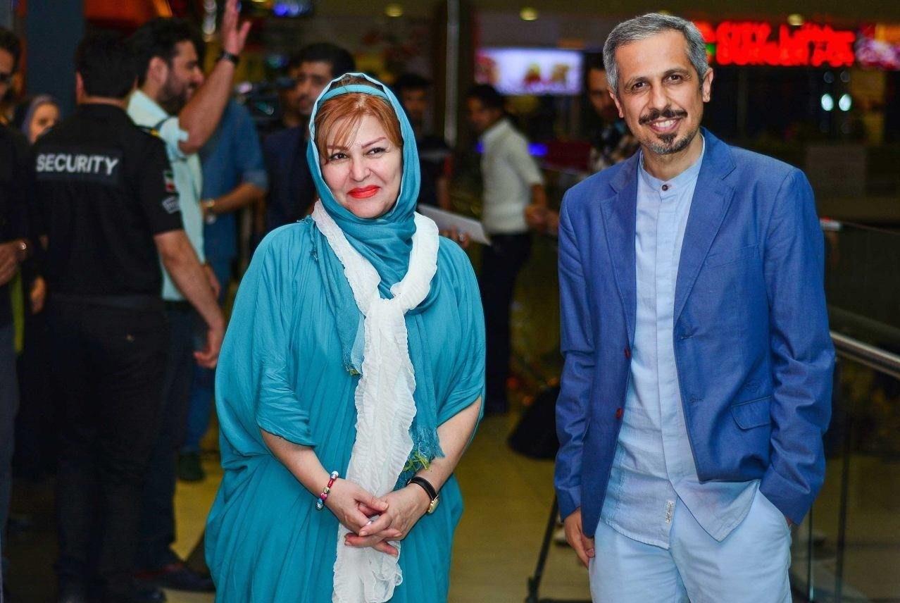 جواد رضویان و اکرم محمدی در اکران خیریه فیلم بارکد
