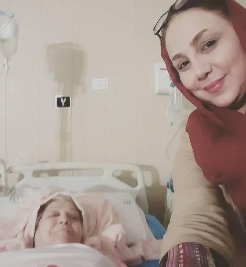 سلفی بهنوش بختیاری و مادرش ساعت 3 صبح در بیمارستان