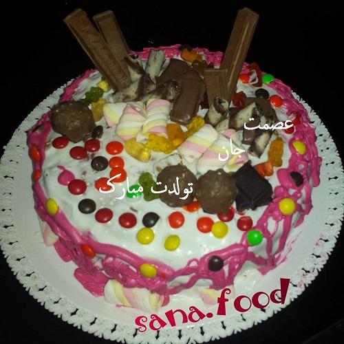 کیک با نام مهسا کیک تولد با اسم عصمت