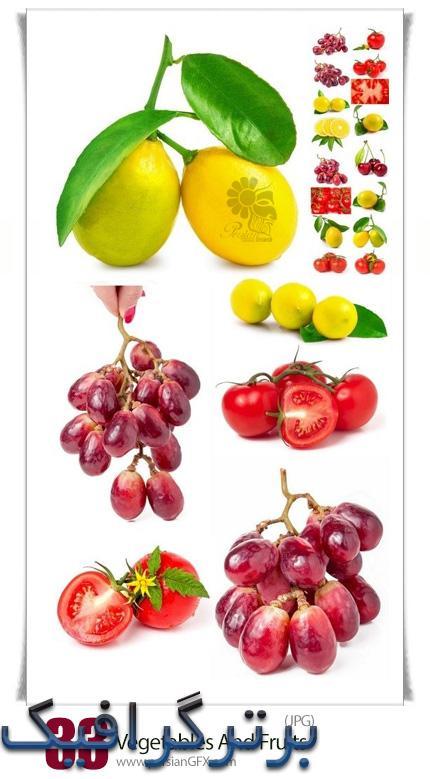 دانلود وکتور میوه و سبزیجات