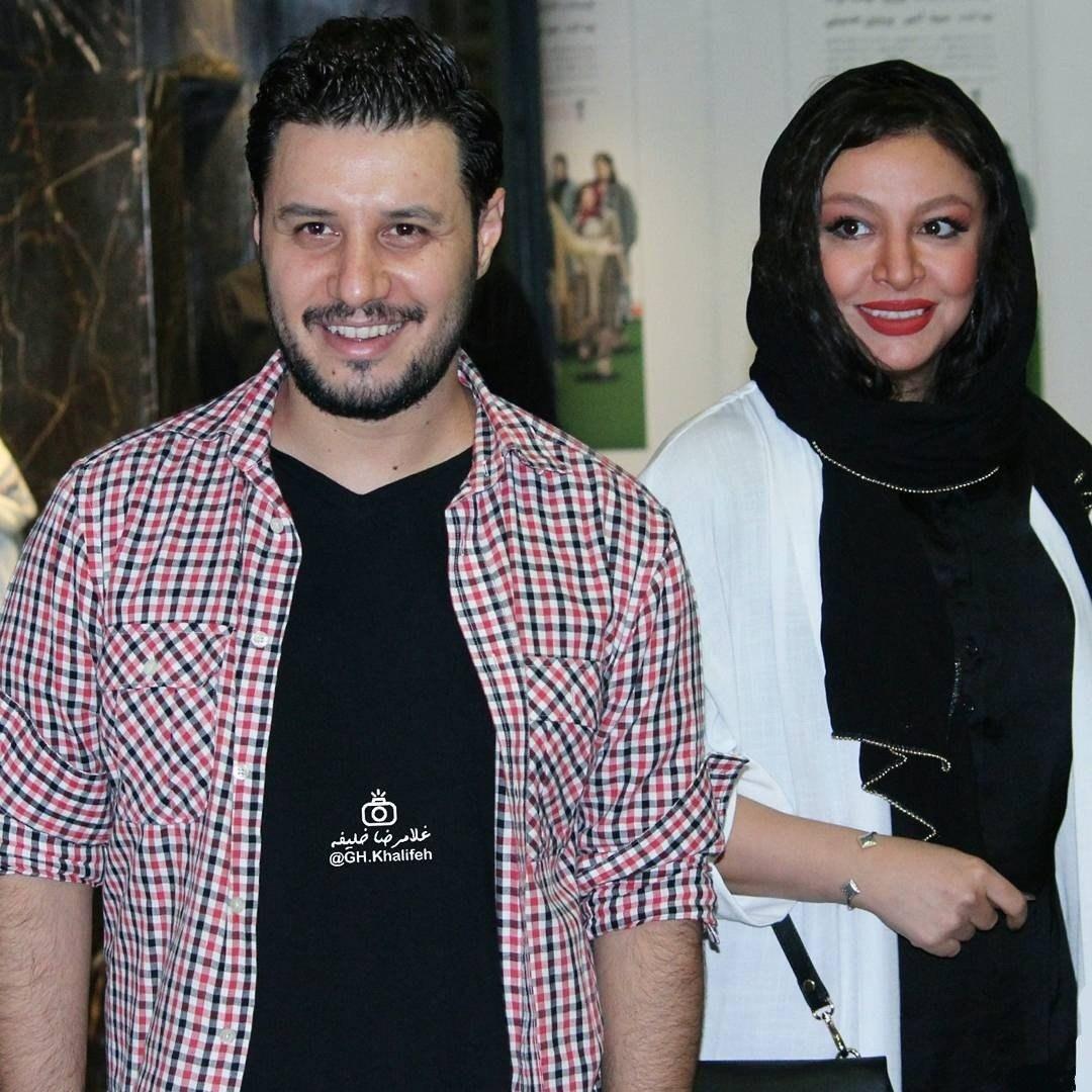 مه لقا باقری و همسرش جواد عزتی