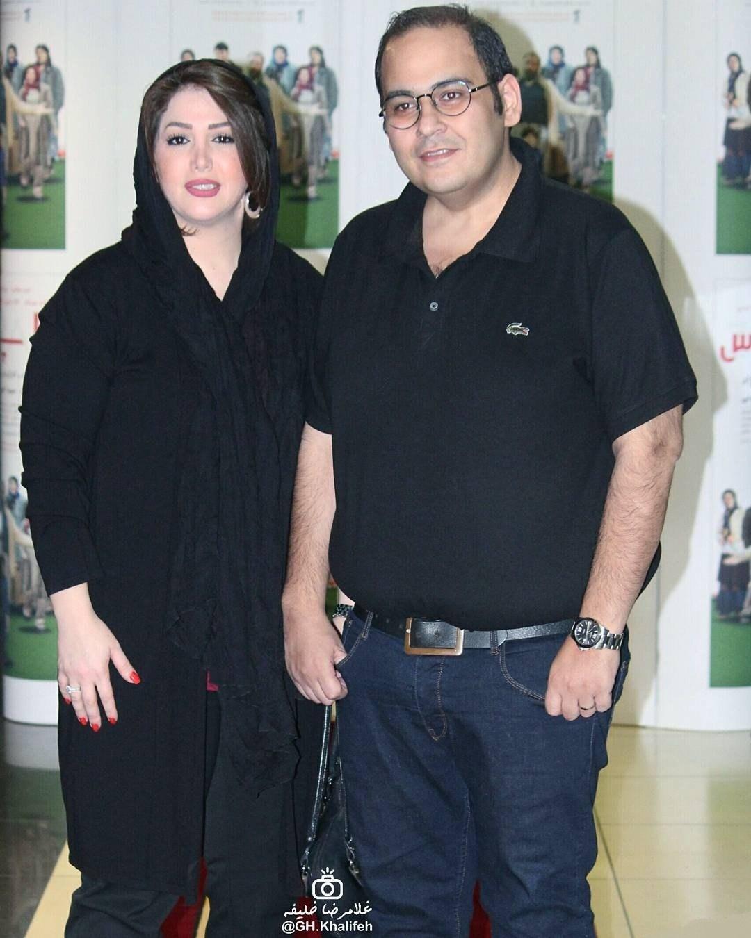 عکس رضا داوودنژاد و همسرش غزل بدیعی