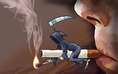 کاریکاتور اعتیاد به مواد مخدر
