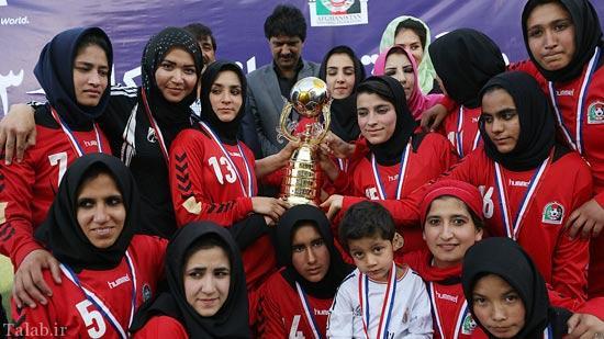 تیم فوتبال دختران افغانستان+تصاویر