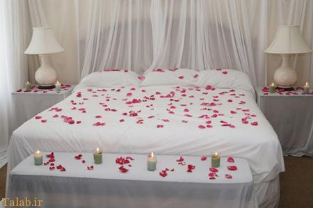 نمونه هایی از تزیینات زیبای اتاق خواب عروس و داماد