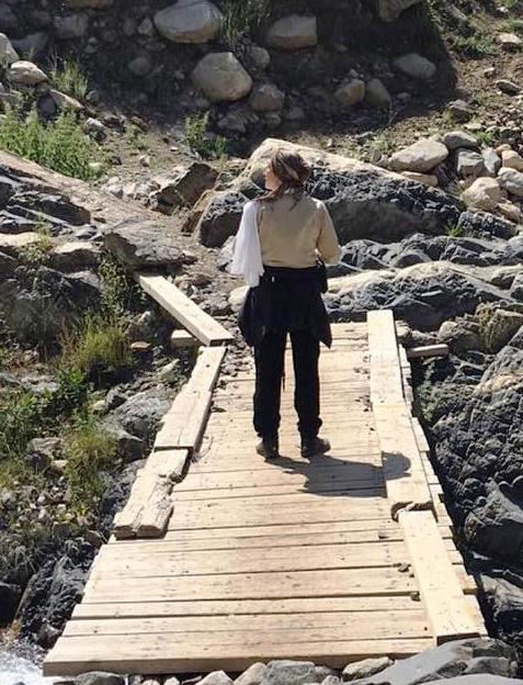 عکسهای هدیه تهرانی درحال کوهنوری