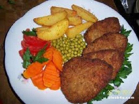 کوکوی بادمجان کبابی با آرد سیب زمینی