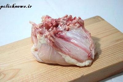 طرز صحیح فیله کردن سینه مرغ