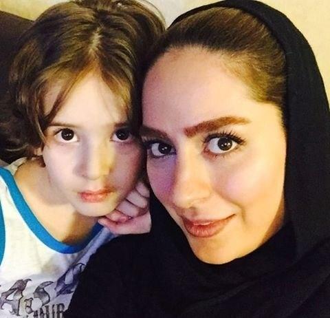 تک عکس جدید سمانه پاکدل و برادرزاده اش