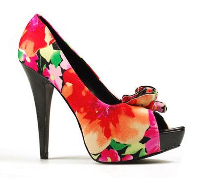 مدل کفش پاشنه بلند طرح گل