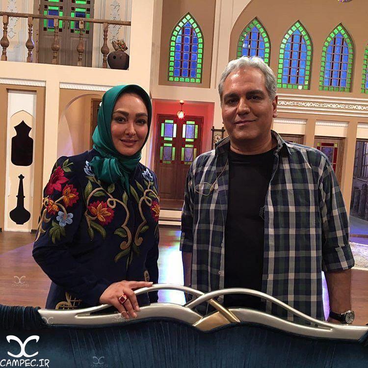 حضور الهام حمیدی در برنامه دور همی+عکس