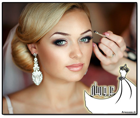 مدل جدید آرایش عروس اروپایی