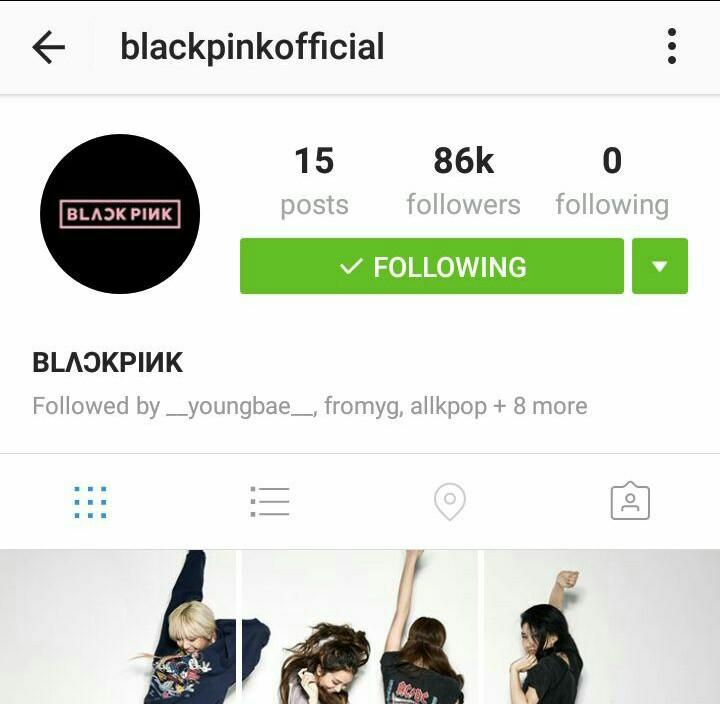 دخترای گروه کره ای Black Pink کمپانی YG اینستاگرام رسمی افتتاح کردند