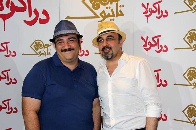 رضا عطاران و مهران غفوریان در اکران خصوصی فیلم دراکولا