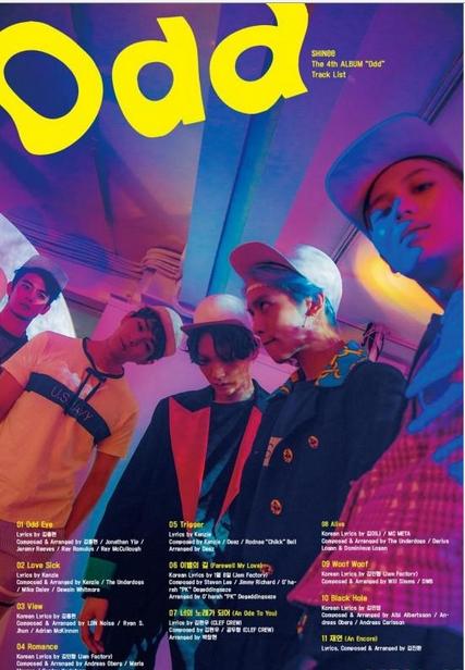 دانلود آلبوم جدید گروه کره ای شاینی download [Album] SHINee – Odd – The 4th Album