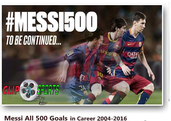 دانلود فیلم ۵۰۰ گل لیونل مسی از ۲۰۰۴ تا ۲۰۱۶