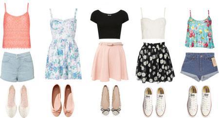 ست کردن لباس و شلوارک تابستانی