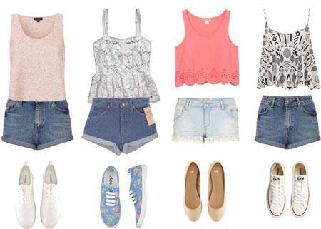 ست لباس و شلوارک تابستانی