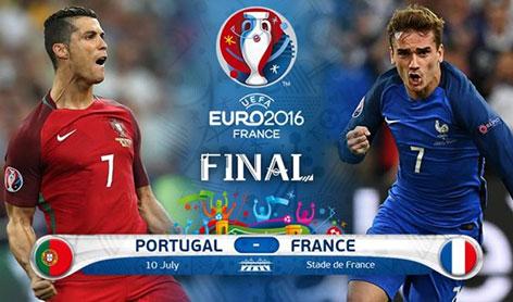 دانلود مسابقه فینال یورو 2016 بین تیم های پرتغال و فرانسه