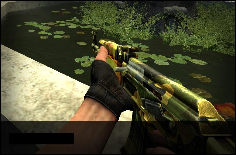 دانلود اسکین Ak47 | Retextured Camouflage برای کانتر سورس