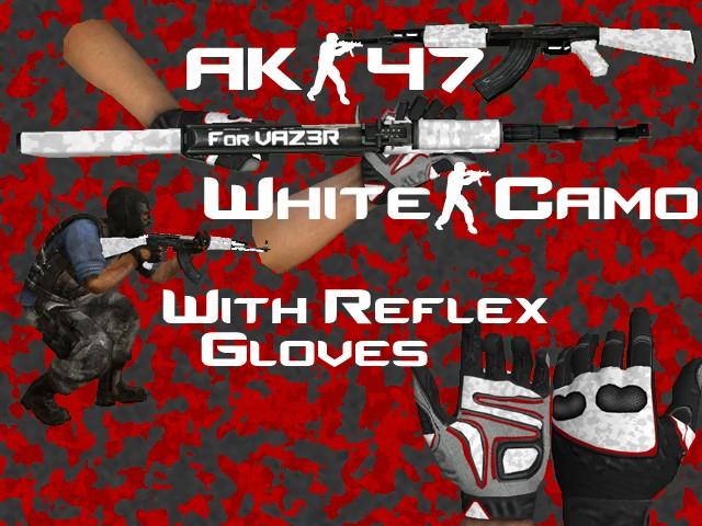 دانلود اسکین Ak47 | White برای کانتر سورس