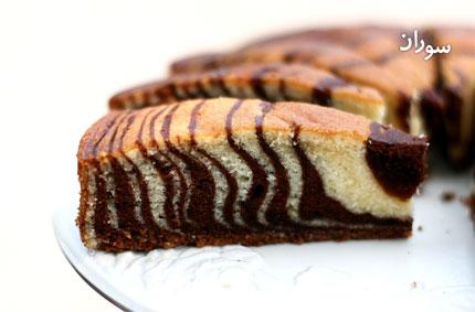 طرز تهیه کیک گورخری