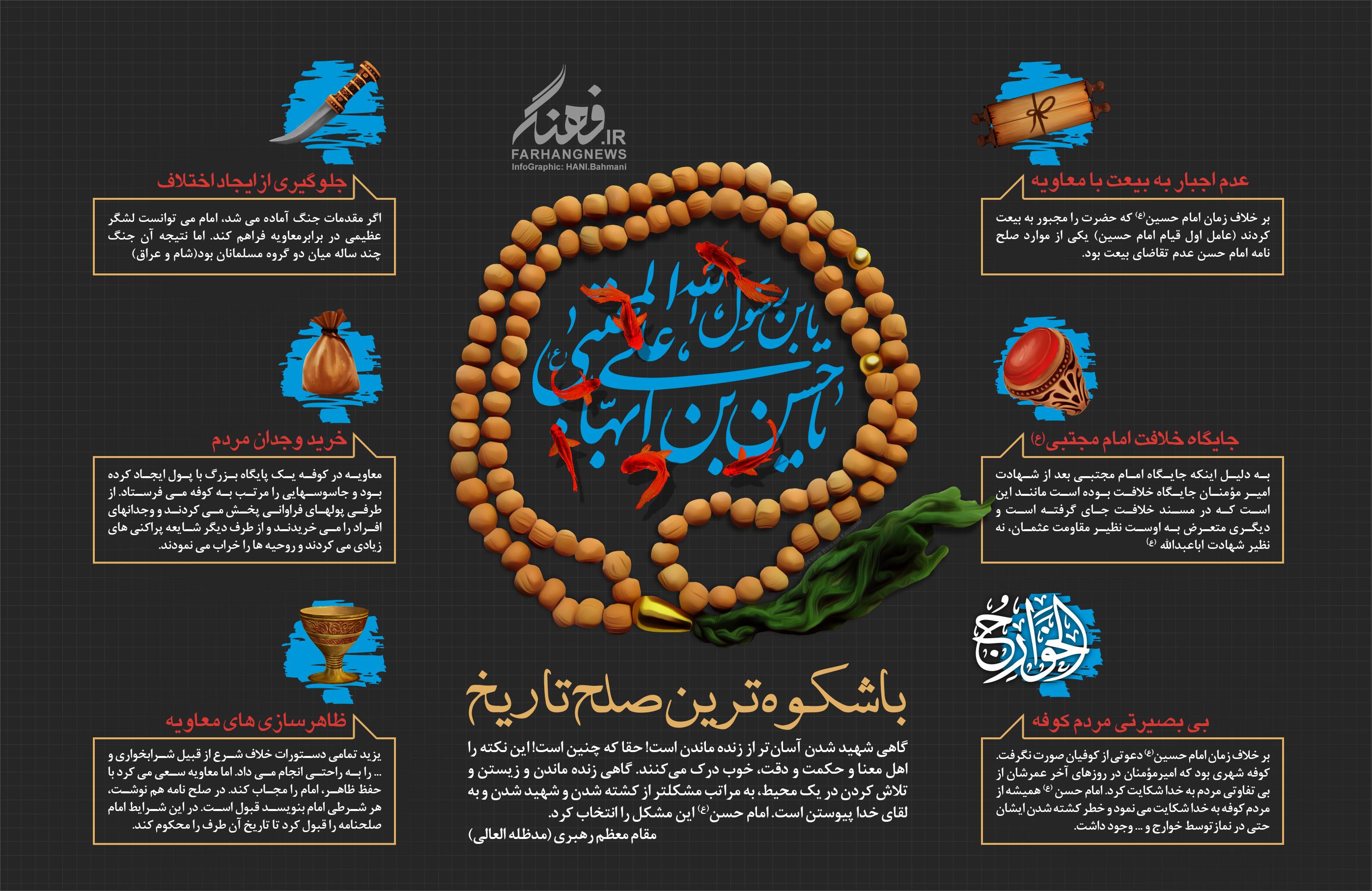 اینفوگرافیک - امام حسن (علیه السلام)