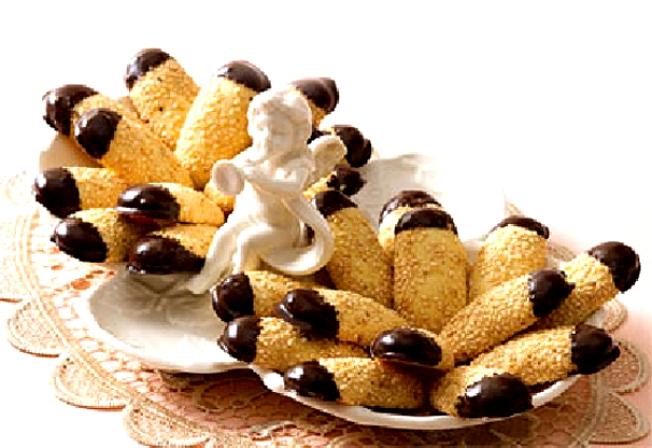 طرز تهیه شیرینی کنجدی با شکلات