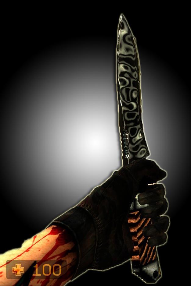 دانلود اسکین Acrylic Knife w/ Ebony Wood برای کانتر سورس