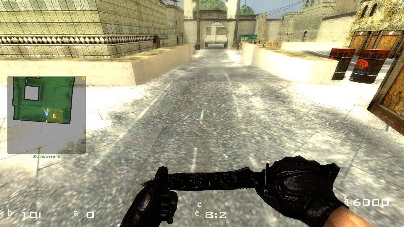 دانلود اسکین HD BLACK KNIFE FIX برای کانتر سورس