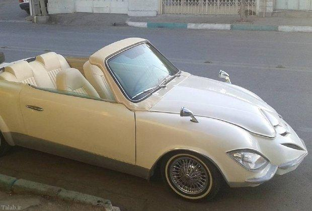 تصویری از خودروی دست ساز یک اصفهانی