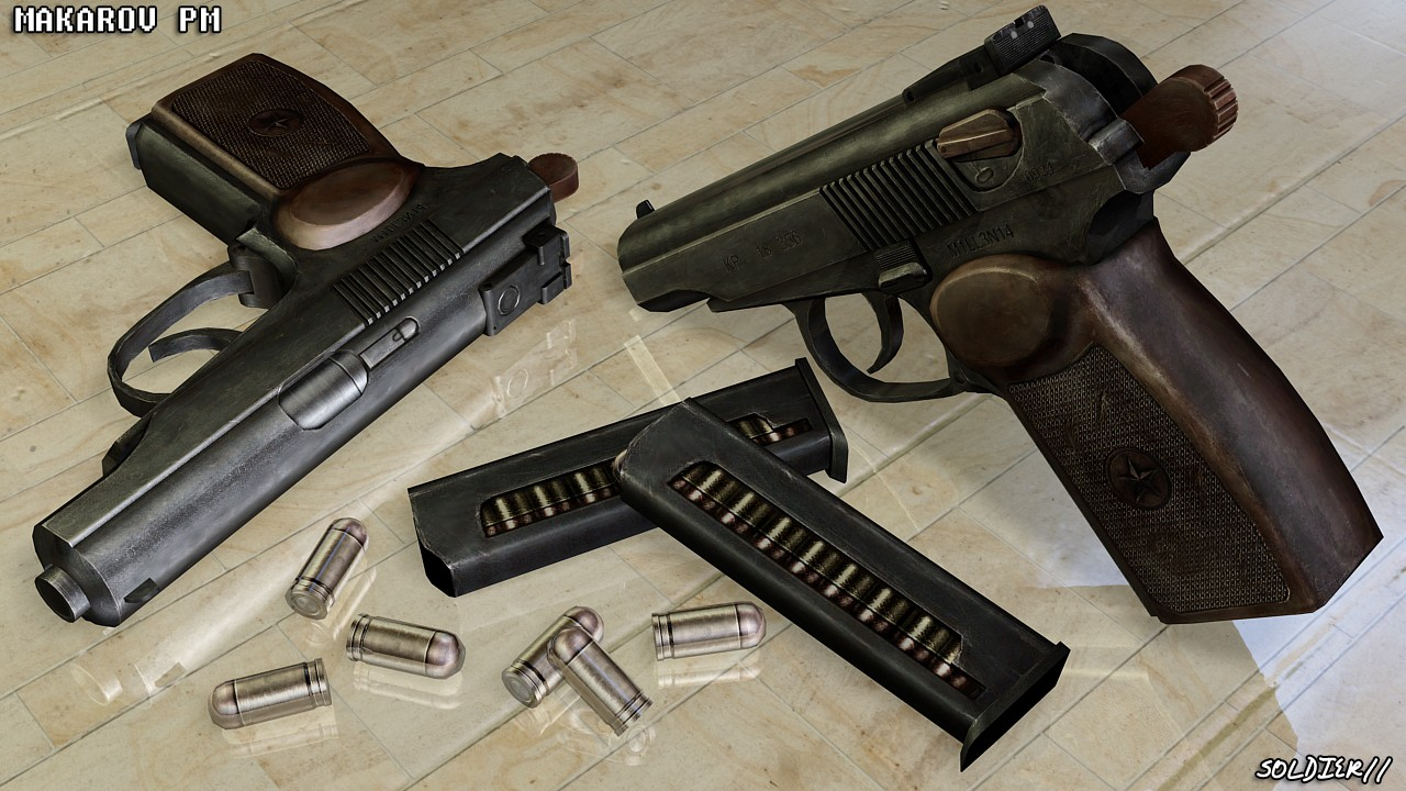 دانلود اسکین Glock | Soldier11's Makarov برای کانتر سورس