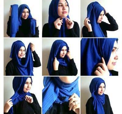 آموزش تصویری مدل بستن شال و روسری