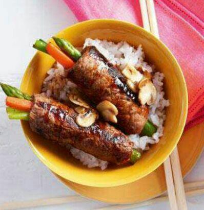 دستور پخت غذای بیف رول ژاپنی