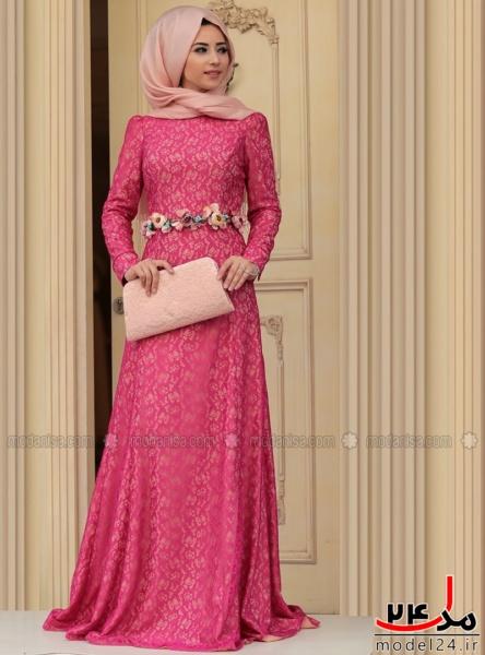 30 عکس مدل لباس مجلسی پوشیده با حجاب زیبا 2016 95