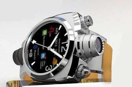 مدل ساعت مچی به همراه یک دوربین