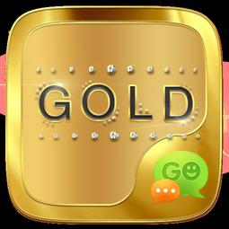 تم طلایی اندروید - GO SMS GOLD THEME