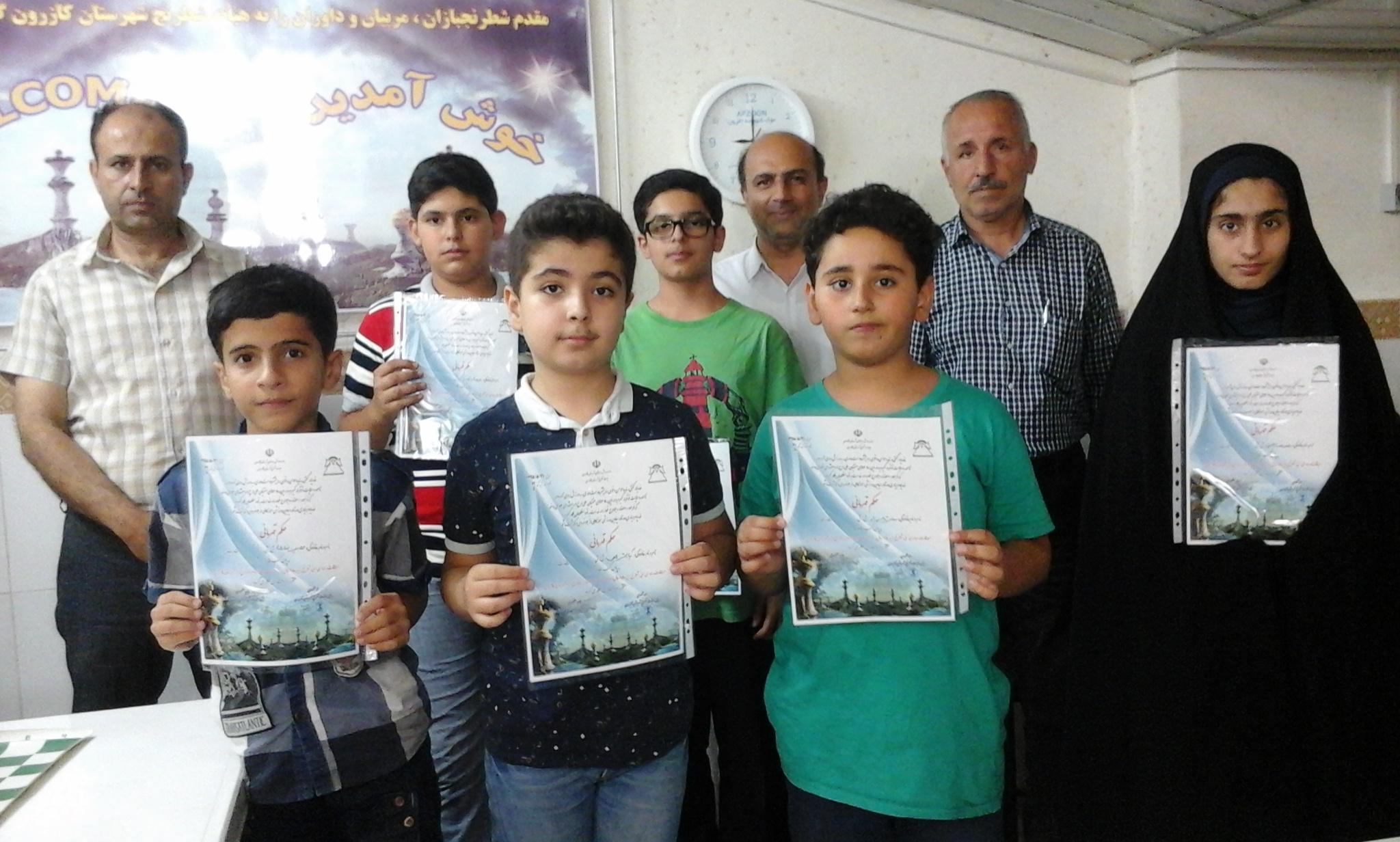 برگزاری مسابقات شطرنج قهرمانی رده سنی زیر 18 سال به میزبانی هیات شطرنج شهرستان کازرون