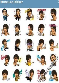 استیکر تلگرام Bruce Lee Sticker