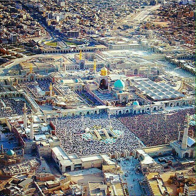 عکس هوایی از حرم امام رضا