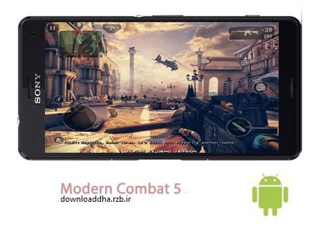 دانلود بازی اکشن مدرن کمبات Modern Combat 5 Blackout 2.0.1b – اندروید