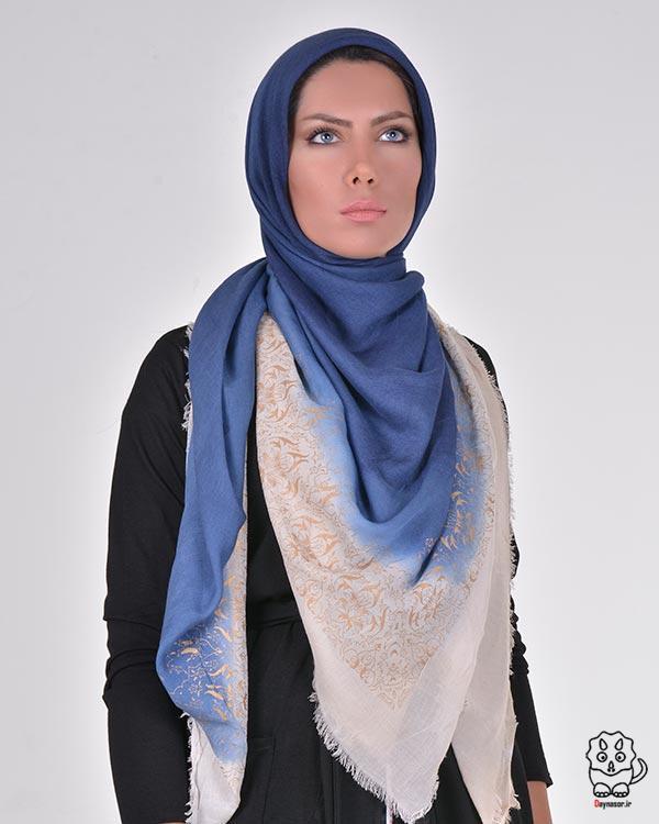 روسری نخی دو رنگ